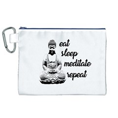 Eat, sleep, meditate, repeat  Canvas Cosmetic Bag (XL)