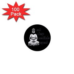 Eat, sleep, meditate, repeat  1  Mini Buttons (100 pack)