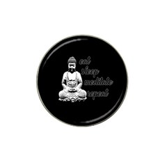 Eat, sleep, meditate, repeat  Hat Clip Ball Marker (4 pack)