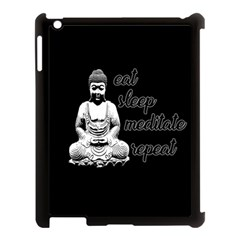 Eat, sleep, meditate, repeat  Apple iPad 3/4 Case (Black)