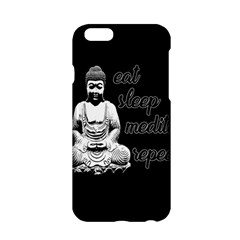 Eat, sleep, meditate, repeat  Apple iPhone 6/6S Hardshell Case