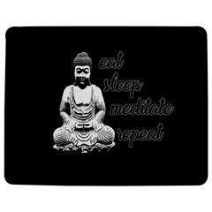 Eat, sleep, meditate, repeat  Jigsaw Puzzle Photo Stand (Rectangular)