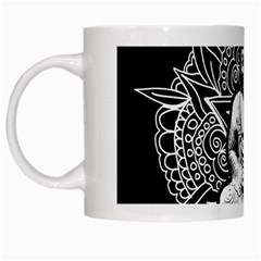 Ornate Buddha White Mugs