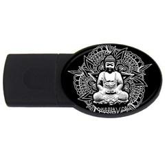 Ornate Buddha USB Flash Drive Oval (1 GB)