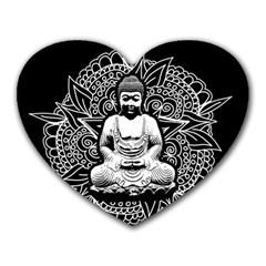 Ornate Buddha Heart Mousepads