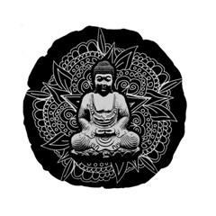 Ornate Buddha Standard 15  Premium Round Cushions