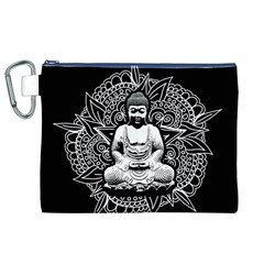 Ornate Buddha Canvas Cosmetic Bag (XL)