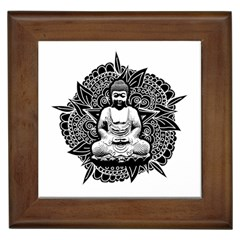 Ornate Buddha Framed Tiles