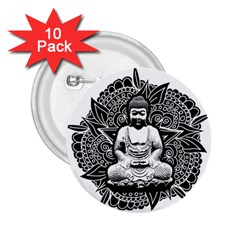 Ornate Buddha 2.25  Buttons (10 pack)