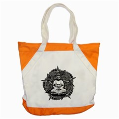 Ornate Buddha Accent Tote Bag