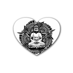 Ornate Buddha Heart Coaster (4 pack)