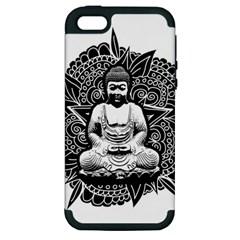 Ornate Buddha Apple iPhone 5 Hardshell Case (PC+Silicone)