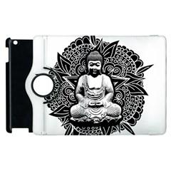 Ornate Buddha Apple iPad 3/4 Flip 360 Case