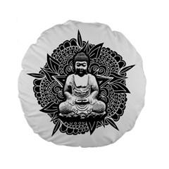 Ornate Buddha Standard 15  Premium Flano Round Cushions