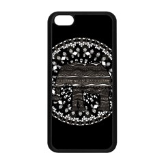 Ornate mandala elephant  Apple iPhone 5C Seamless Case (Black)