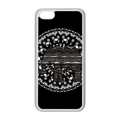 Ornate mandala elephant  Apple iPhone 5C Seamless Case (White)
