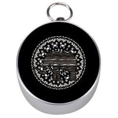 Ornate mandala elephant  Silver Compasses