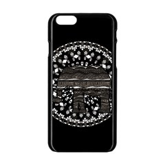 Ornate mandala elephant  Apple iPhone 6/6S Black Enamel Case