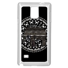 Ornate mandala elephant  Samsung Galaxy Note 4 Case (White)