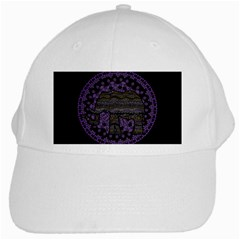Ornate mandala elephant  White Cap