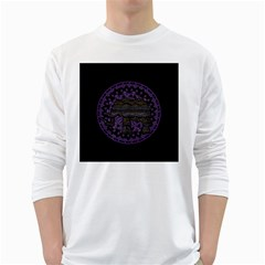 Ornate mandala elephant  White Long Sleeve T-Shirts