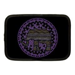 Ornate mandala elephant  Netbook Case (Medium)