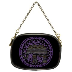 Ornate mandala elephant  Chain Purses (Two Sides)