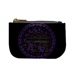 Ornate mandala elephant  Mini Coin Purses