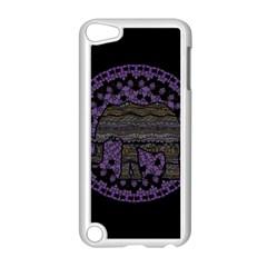 Ornate mandala elephant  Apple iPod Touch 5 Case (White)