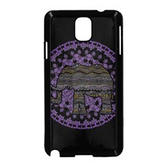 Ornate mandala elephant  Samsung Galaxy Note 3 Neo Hardshell Case (Black)