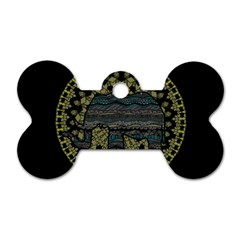 Ornate mandala elephant  Dog Tag Bone (Two Sides)
