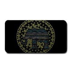 Ornate mandala elephant  Medium Bar Mats