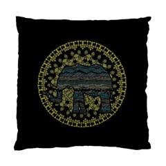 Ornate mandala elephant  Standard Cushion Case (Two Sides)