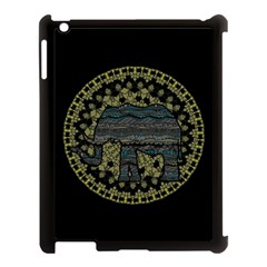 Ornate mandala elephant  Apple iPad 3/4 Case (Black)