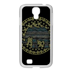 Ornate mandala elephant  Samsung GALAXY S4 I9500/ I9505 Case (White)