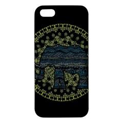 Ornate mandala elephant  iPhone 5S/ SE Premium Hardshell Case