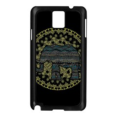 Ornate mandala elephant  Samsung Galaxy Note 3 N9005 Case (Black)