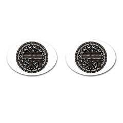 Ornate mandala elephant  Cufflinks (Oval)