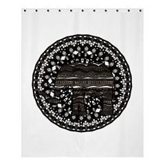 Ornate mandala elephant  Shower Curtain 60  x 72  (Medium)