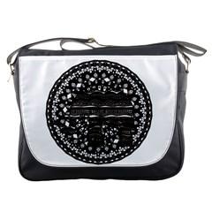 Ornate mandala elephant  Messenger Bags