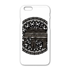 Ornate mandala elephant  Apple iPhone 6/6S White Enamel Case