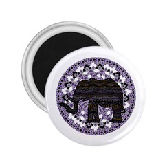 Ornate mandala elephant  2.25  Magnets