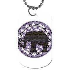 Ornate mandala elephant  Dog Tag (One Side)