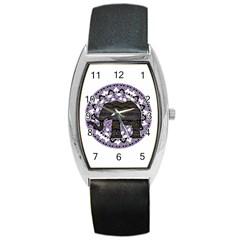 Ornate mandala elephant  Barrel Style Metal Watch