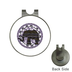 Ornate mandala elephant  Hat Clips with Golf Markers