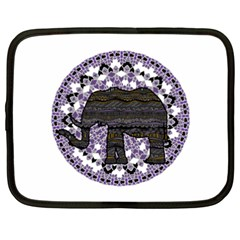 Ornate mandala elephant  Netbook Case (XXL)