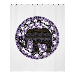 Ornate mandala elephant  Shower Curtain 60  x 72  (Medium)