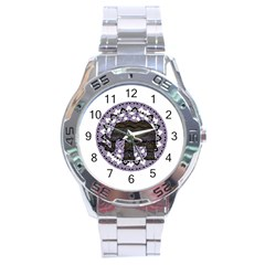 Ornate mandala elephant  Stainless Steel Analogue Watch