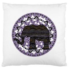 Ornate Mandala Elephant  Large Cushion Case (one Side)