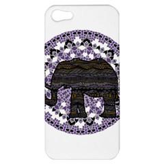 Ornate mandala elephant  Apple iPhone 5 Hardshell Case